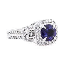 14KT White Gold 2.22 ctw Sapphire and Diamond Ring