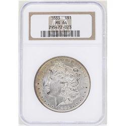 1883 $1 Morgan Silver Dollar Coin NGC MS62