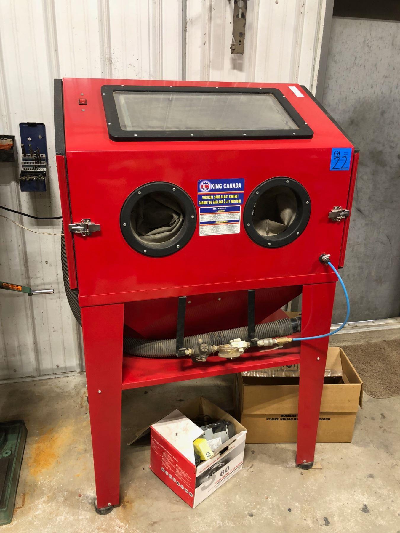 King Canada Vertical Sand Blast Cabinet. Model KSB-350