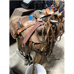 Saddle - Custom made, patented in 1885, collectible