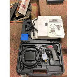 King Industrial Wireless Inspection Camera with Recordable LCD Monitor. 2 boxes of extension cables.