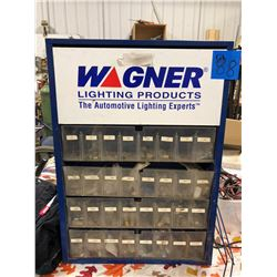 Wagner Lighting Products Shelving Unit. Comes with lights