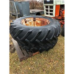 2 Tractor Tires w/rims 18.4 - 34