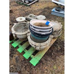 Pallet of Concrete Planters