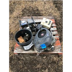 Various gas motors, water pump and misc parts