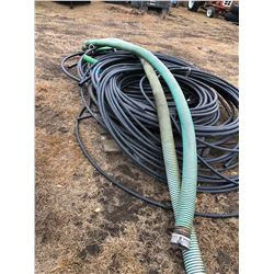 "Various size drain hose and 1 1/2"" IPS Pipe"