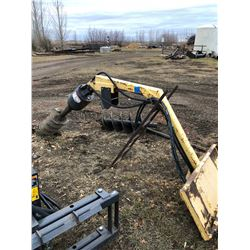 "Talet Equipment Auger Boom post hole digger, 8"", 12"", 14"" augers and extension"
