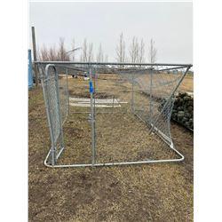 Fenced Dog Kennel