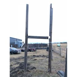 2 - 20 ft Square Wooden Poles with 1 - 3 ft Square Wooden Poles