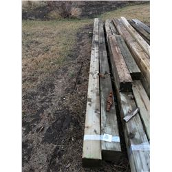 2 - 20 ft Square Wooden Poles