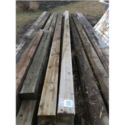 2 - 16 ft Square Wooden Poles