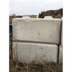 2 - 4000lb Concrete Block