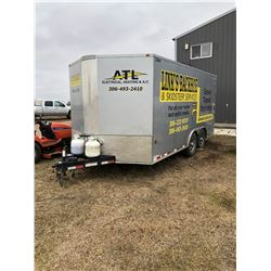 2016 Royal Enclosed Trailer, Model Number XRCHT60-818-78, comes with tools, shelving, air compressor