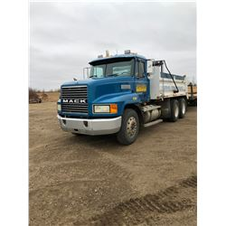 1998 Mack Gravel Truck, SN 1M2AA18Y6WW08514, EZ 427, 18sp, Roll Tarp, all new tires 11/245, safety g