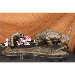 """Bronze Bison & Bear 9"""" x 21"""""""