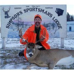 Saskatchewan Trophy Whitetail Deer Hunt
