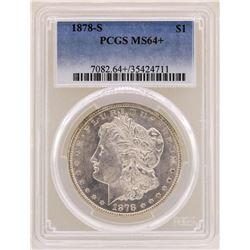 1878-S $1 Morgan Silver Dollar Coin PCGS MS64+