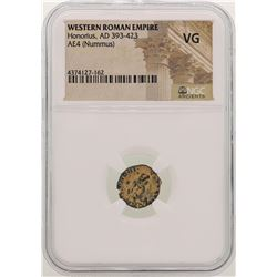 Honorius 393-423 AD Ancient Western Roman Empire Coin NGC VG