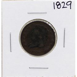 1829 Draped Bust Half Cent Coin