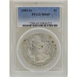 1902-O $1 Morgan Silver Dollar Coin PCGS MS65