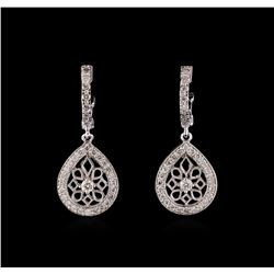 0.74 ctw Diamond Earrings - 14KT White Gold