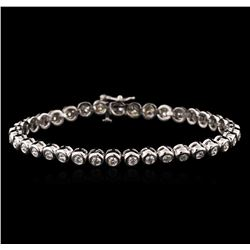 14KT White Gold 2.45 ctw Diamond Tennis Bracelet