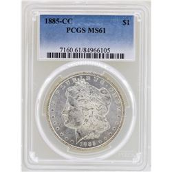 1885-CC $1 Morgan Silver Dollar Coin PCGS MS61