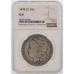 1878-CC $1 Morgan Silver Dollar Coin NGC G4