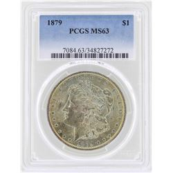 1879 $1 Morgan Silver Dollar Coin PCGS MS63