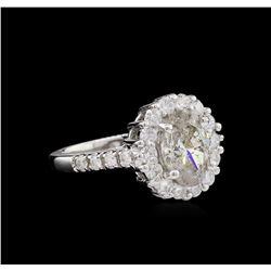 2.77 ctw Diamond Ring - 14KT White Gold