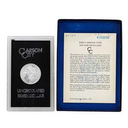 1881-CC $1 Morgan Silver Dollar Coin Uncirculated GSA w/ Box & COA