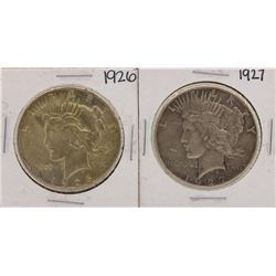 Lot of 1926-1927 $1 Peace Silver Dollar Coins