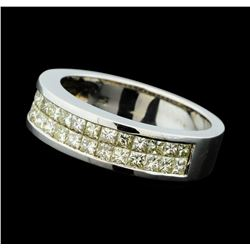 1.34 ctw Diamond Ring - 18KT White Gold