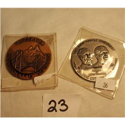 2 Vancouver Numismatic Society Medals, Hon. John McCreight & William Bennet