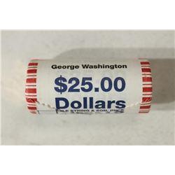 $25 ROLL OF 2007 GEORGE WASHINGTON PRESIDENTIAL $S