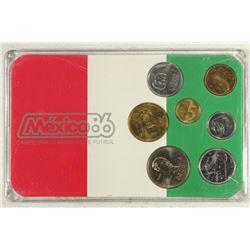 MEXICO 86 FUTBOL BRILLIANT UNC COIN SET