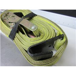2 inch Ratchet Straps with J Hooks / good condition