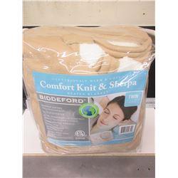 New TWIN Heated Blanket Comfort Knit & Sherpa / 10 heat settings