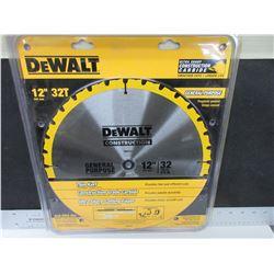 "New DeWalt 12"" 32 Tooth General Purpose Blade  / DW3123"