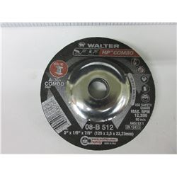 """New 5 Pack of Walter HP Combo A-30-Combo for Steel / 5"""" x 1/8 x 7/8"""
