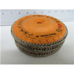 """3 New Walter Spin On  Flap Disk Eduro Flex / 5"""" x 5/8 with Eco-Trim"""