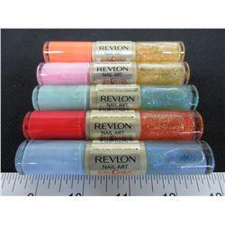 5 New Revlon Nail Art Nail Polish assorted colors