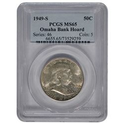 1949-S Franklin Half Dollar Coin PCGS MS65