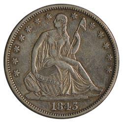 1843 Seated Liberty Half Dollar Coin