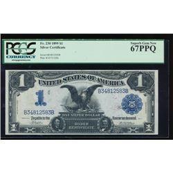 1899 $1 Black Eagle Silver Certificate PCGS 67PPQ