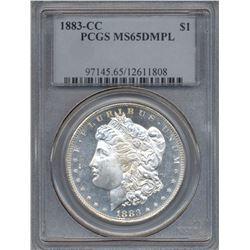 1883-CC $1 Morgan Silver Dollar Coin PCGS MS65DMPL