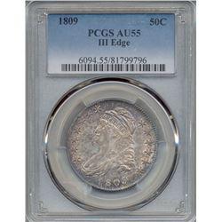 1809 Liberty Bust Half Dollar Coin ANACS AU55