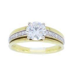 18KT Yellow Gold 0.98ctw Diamond Ring