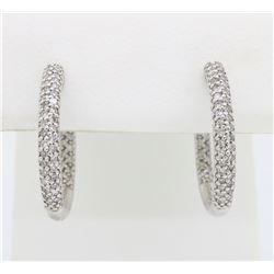 14KT White Gold 0.35ctw Diamond Earrings