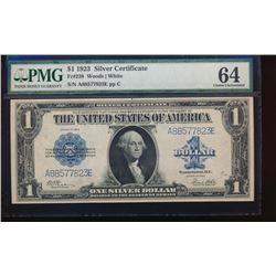 1923 $1 Silver Certificate PMG 64